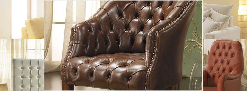 Poltrone in Pelle Chesterfield